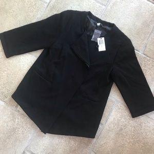 NWT Saks Fifth Avenue Black Asymmetrical Blazer